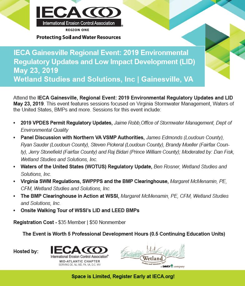 MAC IECA Roadshow - Gainesville, VA @ Wetland Studies and Solutions, Inc. | Dover | Delaware | United States